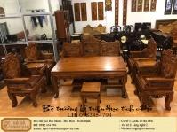 Bộ trường kỷ triện đục tích cổ đồ gụ mật Quảng Bình